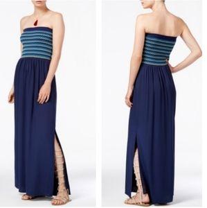 RACHAEL Rachel Roy Strapless Maxi Dress